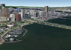 Image of Portland Taken with Google Earth