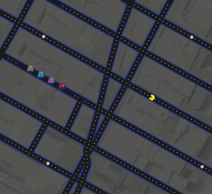 PacMan in Time Square